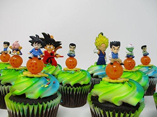 Dragon Ball Z 12 Piece Random Birthday Cupcake Topper Set Featuring