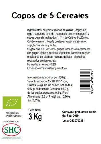Ecocesta- Copos de 5 cereales bio, 3 kg .: Amazon.es: Alimentación y bebidas