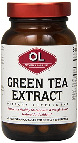 Olympian Lab Green Tea Extract, 500mg, 60-Count - Olympian Labs Garlic