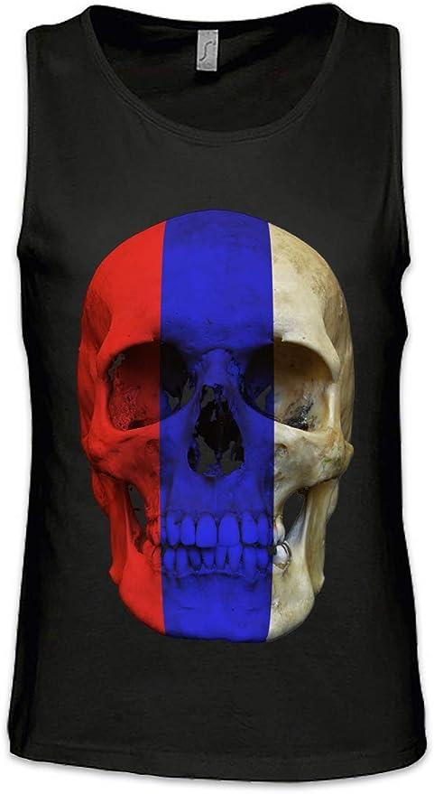 Urban Backwoods Russia Russian Skull Flag Hombre Camiseta Sin ...