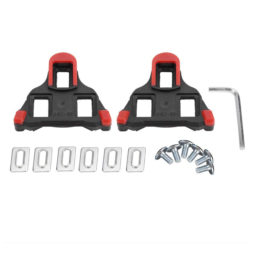 Alomejor 1 par de Botas de Pedal de Bicicleta Tacos de Bicicleta autoblocante Ciclismo de Carretera Taco de Bicicleta para Accesorios de Bicicleta de montaña(Red)