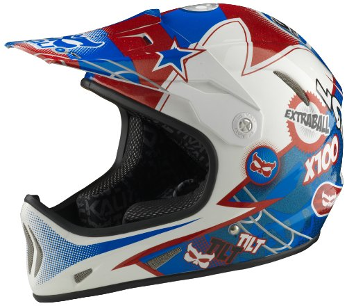 - Kali Protectives 2014 Avatar Downhill BMX Helmet (Flipper Red/White/Blue - L)