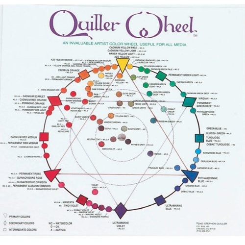 Jack Richeson JACK-499987 Quiller Color Wheel for All Media by Stephen Quiller, 8.5 by 8.5-Inch by Jack Richeson