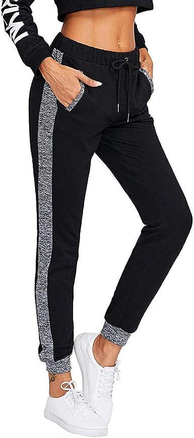 Pantalones Harem Deportivos Para Mujer Invierno Otono Tallas Grandes Paolian Pantalon De Chandal Largo Elasticos Cintura Alta Con Cordones Pantalon Jogger Gimnasio Ajustado Casual Negro Amazon Es Ropa Y Accesorios