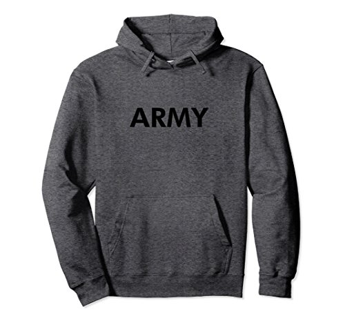 Pt Physical Training Shirt (Unisex Men's Army Physical Training PT Hoodie Sweatshirt Large Dark Heather)