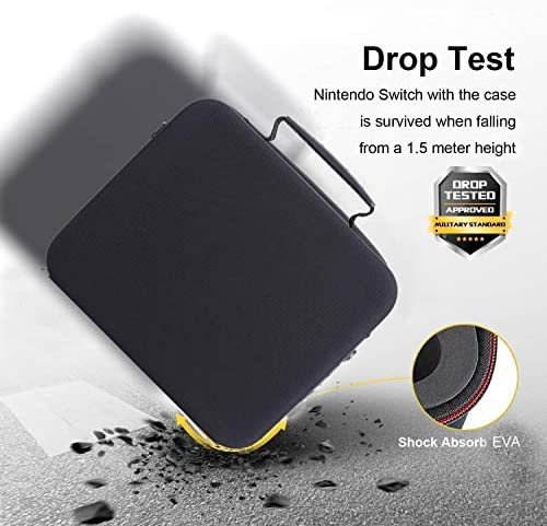 Locking Carry Case for Nintendo Switch Hardshell Deluxe Bag w/ Anti-Theft TSA Combination Lock