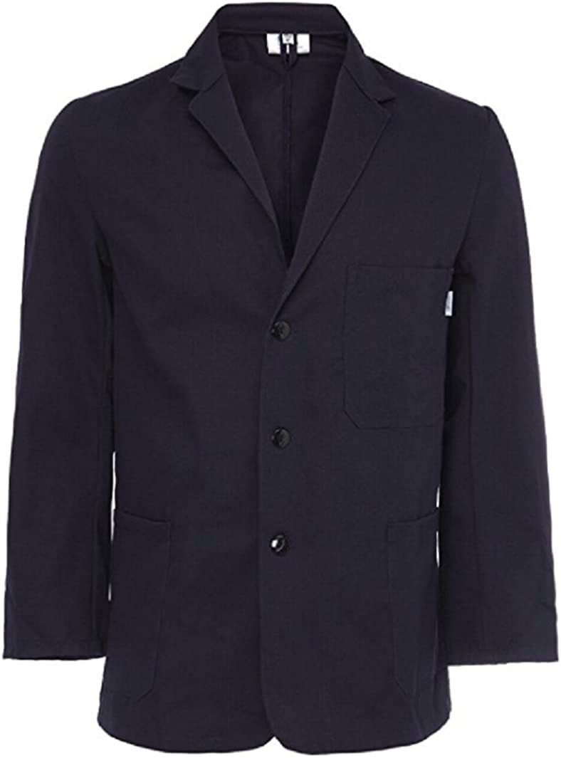 1920s Men's Fashion UK | Peaky Blinders Clothing Yarmo Mens Cotton Drill Jacket Navy - JK01 £42.75 AT vintagedancer.com