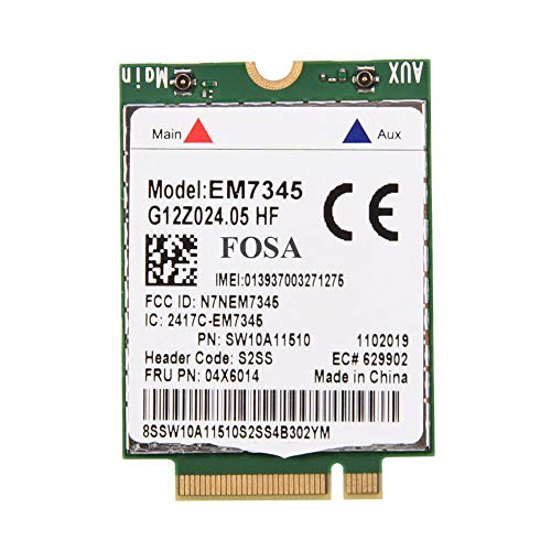 Fosa EM7345 04X6014 4G LTE WWAN Card Module for Thinkpad X250 X1C W550 T450 X240 T440