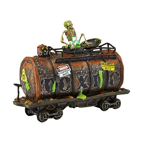 Department 56 Snow Village Halloween Toxic Waste Car Lit House, (Dept 56 Halloween Train)