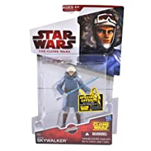 Star Wars 2010 The Clone Wars Series 4 Inch Tall Action Figure - CW42 ANAKIN SKYWALKER with Cold Weather Gear and Blue Lightsaber