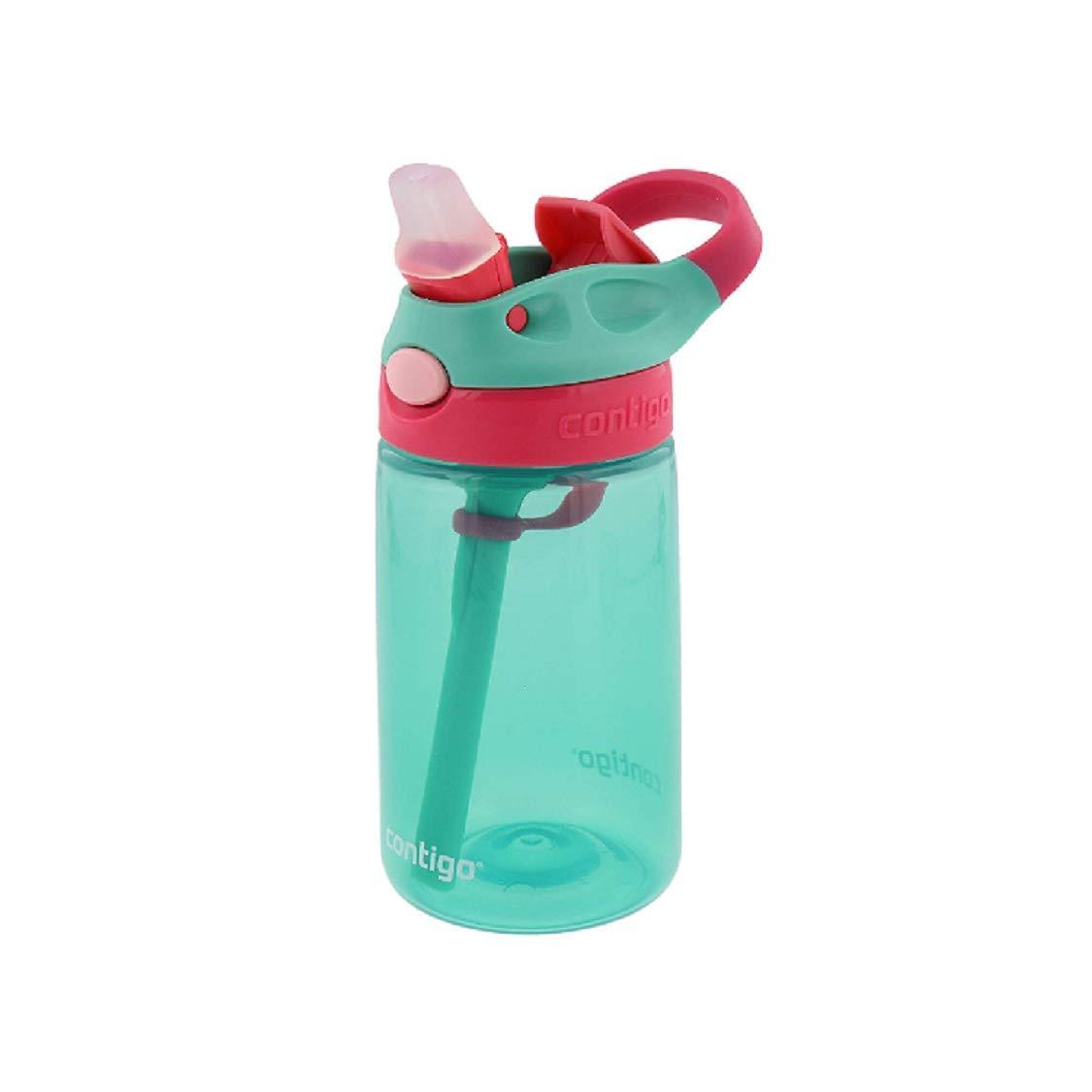 Contigo Kids Autospout Gizmo Water Bottles, 14oz (Perisan Green)