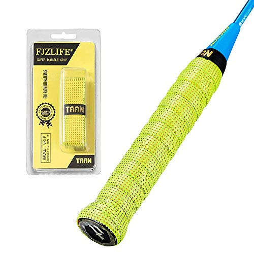 FJZLIFE Badminton Racket Grip in The TAAN Series-Colorful -Perforated Super Absorbent-Ultra Cushion Replacement Badminton Overgrip for Tennis,Squash, Baseball, Table Tennis,Bike and More