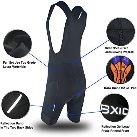 Anti-Bac Padded Bicycle Fitness Cycling Bib Shorts Road Bike with Breather Hole