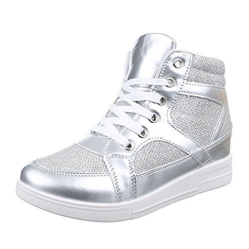 Ital-Design - Zapatillas altas Mujer plateado