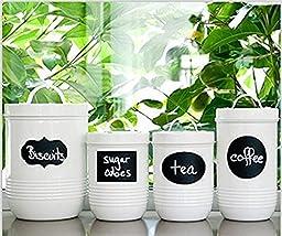 Native Spring Chalkboard Labels, Premium Waterproof Peel and Stick for Jars, Pantries, Craft Rooms Black