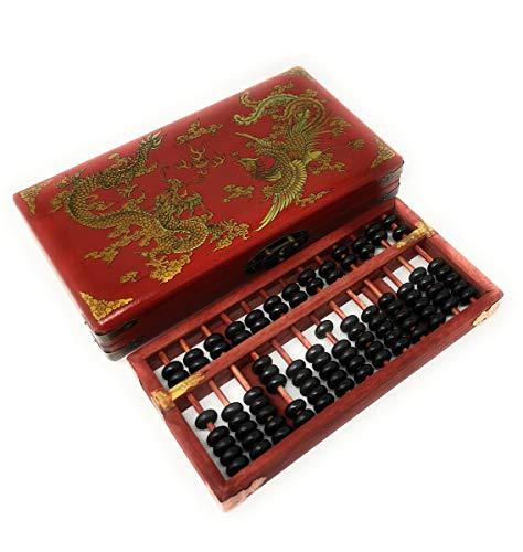 Cuentas de madera vintage chino Aritmética Abacus W. instrucciones: Amazon.es: Amazon.es
