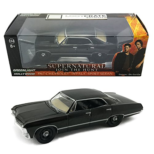 LootCrate September 2015 Supernatural Deans 1967 Chevrolet Impala 1:64 Die Cast Toy Car by Greenlight