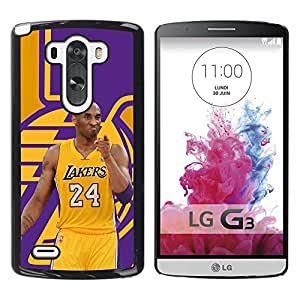 FU-Orionis Colorful Printed Hard Protective Back Case Cover Shell Skin for LG G3 - Lakers 24 Bryant Basketball Poster