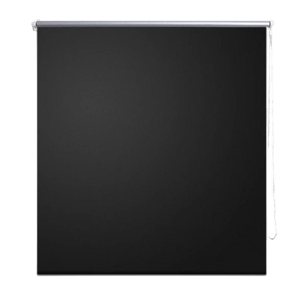 FZYHFA –  Estor Opaco Enrollable (polié ster 100% 160 x 230 cm (L x H) Negro –  Estor cá mara