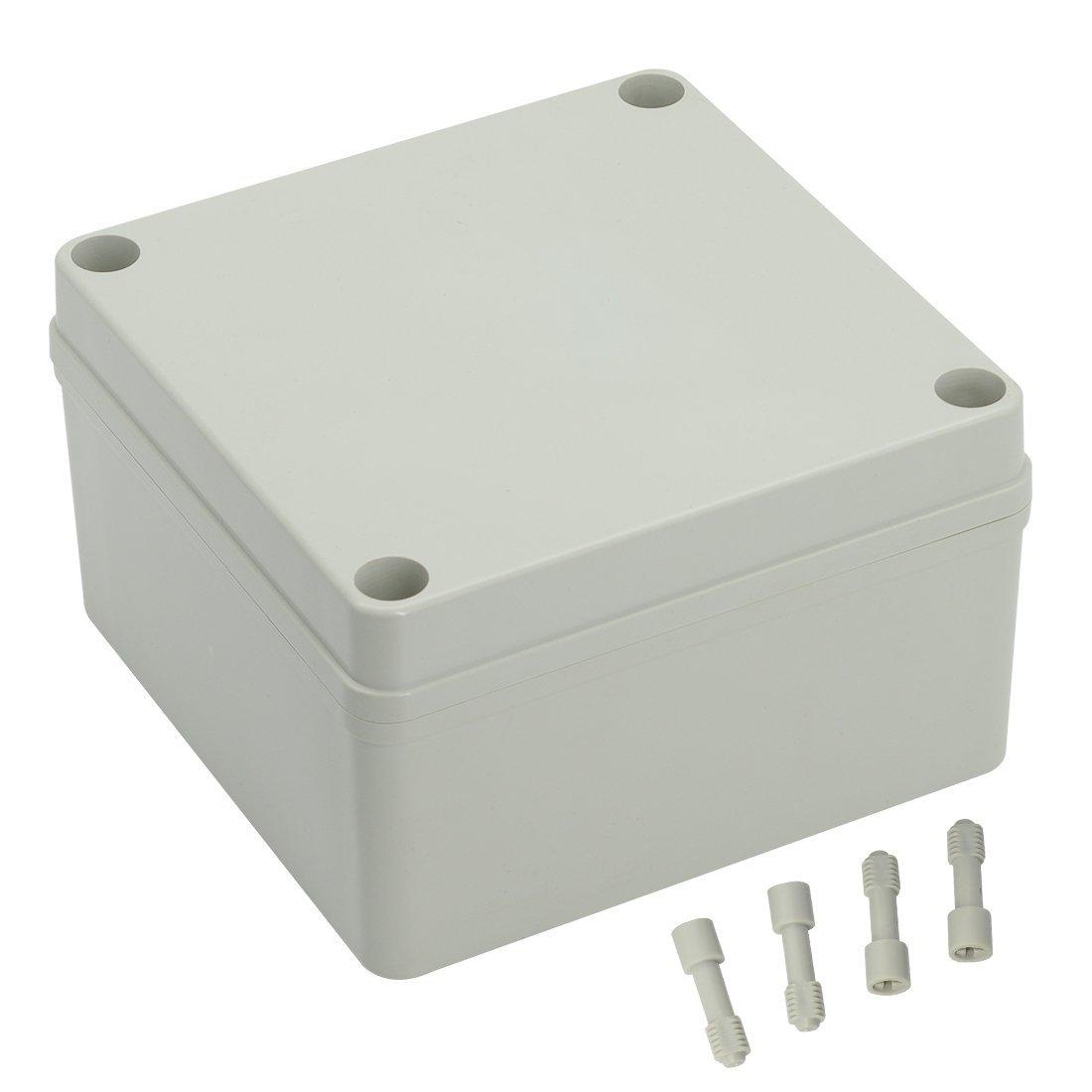 LeMotech Waterproof Dustproof IP67 Junction Box DIY Case Enclosure Gray 4.9' x 4.9' x 3'(125mm x 125mm x 75mm)