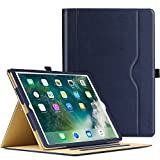 MoKo Case for New iPad 2017 9.7 Inch - Slim Folding Stand Folio Cover Case for Apple All-New iPad 9.7 Inch 2017 Release Tablet with Document Card Slots, Multiple Viewing angles, INDIGO