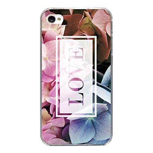 """Disagu Design Case Coque pour Apple iPhone 4s Housse etui coque pochette """"Hortensie_Love"""""""