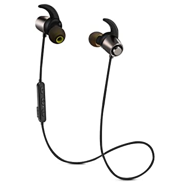 Auriculares inalámbricos Bluetooth, Bluetooth 4.1, magnéticos, deportivos, ligeros, impermeables, con
