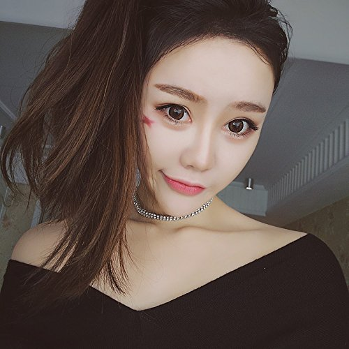 Generic Europe and America Harajuku style Korean version of the influx of people personality Beautiful diamond necklace short paragraph clavicle chain necklace retro fashion accessories