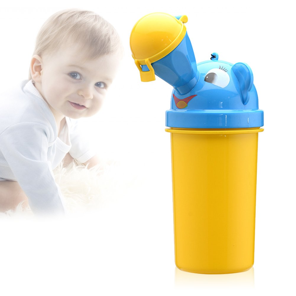 Sunbeter Portable Urinal Child Emergency Potty Leakproof for Car Travel Camping Festivals and Kid Potty Pee Training 450ML(boy)