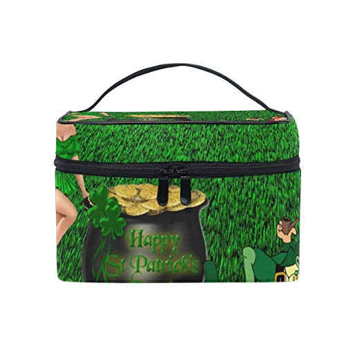 All agree Cosmetic Bag Saint Patrick's Day Girls Makeup Organizer Box Lazy Toiletry Case