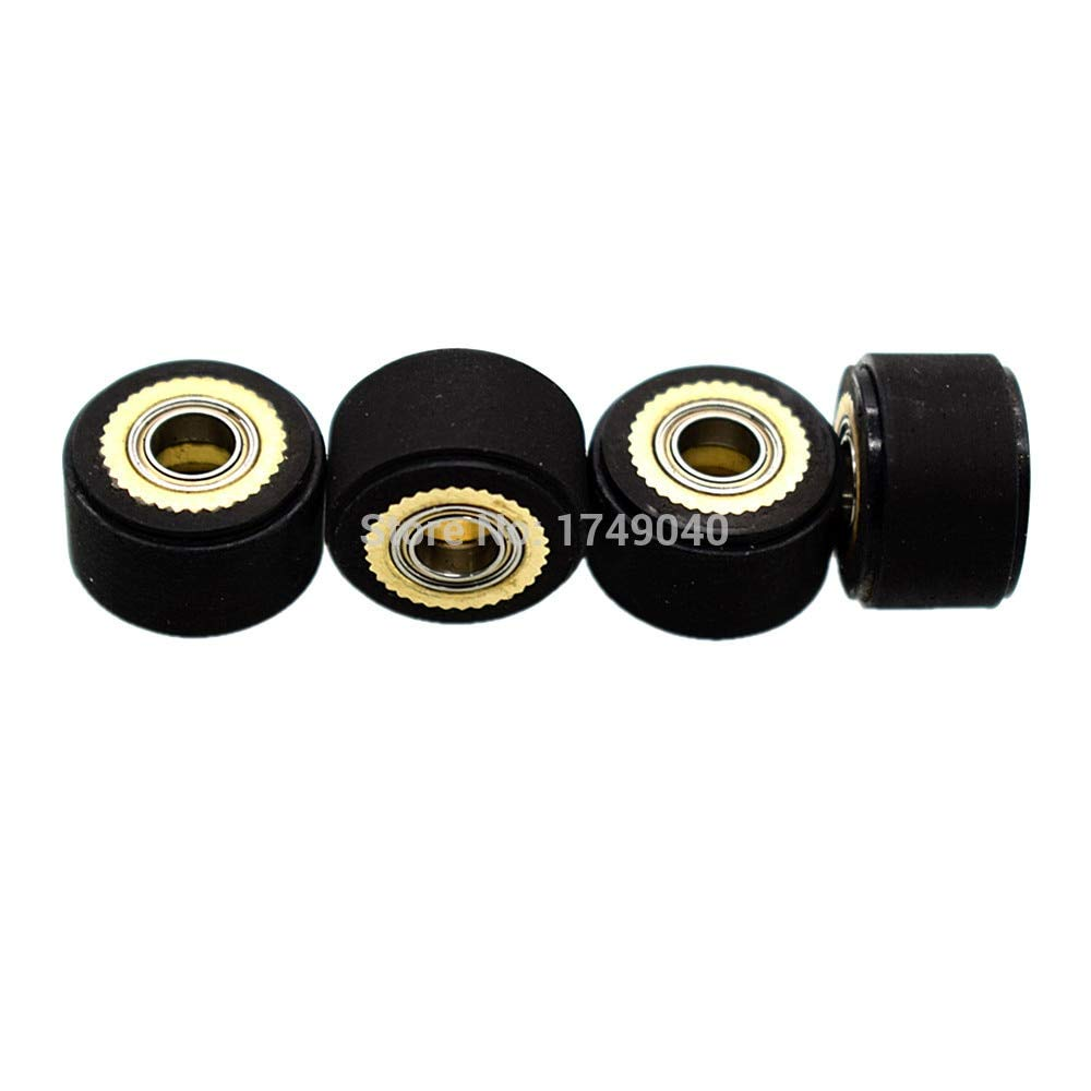 FINCOS Copper Core Pinch Rollers 5x10x16mm Plotter Paper Pressing Wheel Printer Parts Hole Diameter 5mm for Roland Vinyl Plotter Cutter - (Color: 3pc 5x10x16mm)