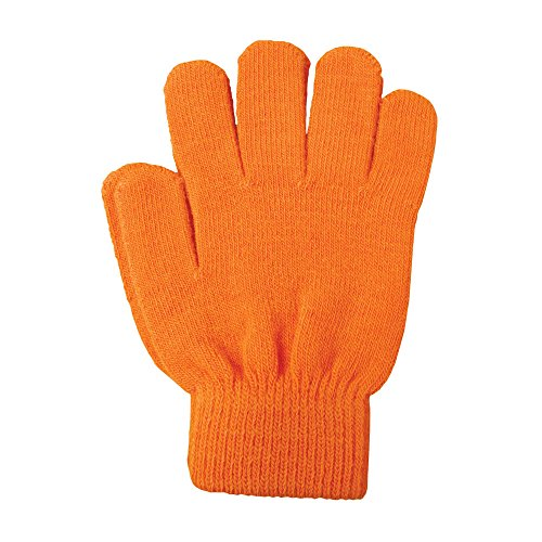A&R Sports Knit Gloves, Tangerine, One Size