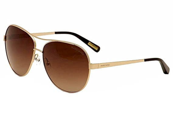 Guess By Marciano Women s GM726 GM 726 GLD-34 Gold Fashion Aviator  Sunglasses 52mm 77a4cba7d5