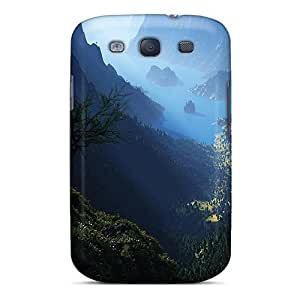Hot Green Mountains First Grade Tpu Phone Case For Galaxy S3 Case Cover