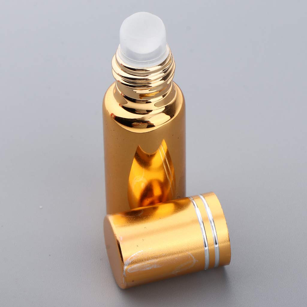 Bleu FLAMEER 3pcs Mini Bouteille Roll-on pour Huile Essentielle Flacons vide avec Avec Bille Roulante de Cr/ème des Yeux Massage Yeux