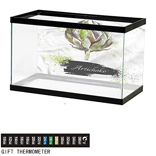 - bybyhome Fish Tank Backdrop Artichoke,Fresh Menu Healthy,Aquarium Background,48