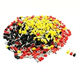 Aexit E6012 Mix Color Pre-Insulated Ferrule Terminals 570Pcs for 10 AWG Wire