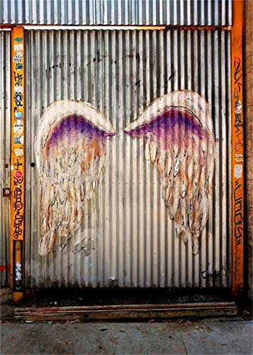 - AOFOTO 5x7ft Graffiti Wings on Wall Photography Backdrop Grunge Street Doodle Background Grotesque Painted Fallen Angel Studio Props Fashion Youngster Rock and Roll 70s 80s 90s Party Vinyl Wallpaper