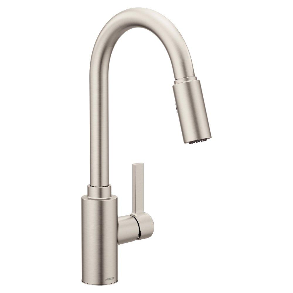 Moen Genta One-Handle High Arc Pulldown Kitchen Faucet Featuring Reflex (7882SRS), Spot Resist Stainless