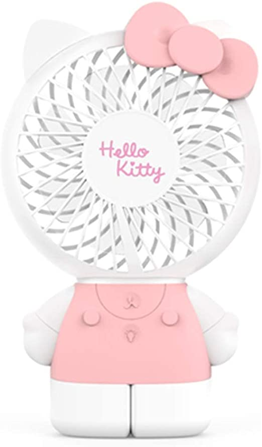 Mini Fan USB Charging Student Dormitory Bed Portable Light and Quiet Portable Portable Fan Handheld Fan BLWX Color : I