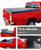 Premium TCF371022 Tri-Fold Tonneau Truck Bed Cover 1982-2013 Ford Ranger; 1994-2011 Mazda B-Series Pickup | Styleside 6' Bed