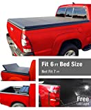 1996 ford ranger tonneau cover - Tri-Fold Truck Bed Tonneau Cover works with 1982-2013 Ford Ranger; 1994-2011 Mazda B-Series Pickup | Styleside 6' Bed