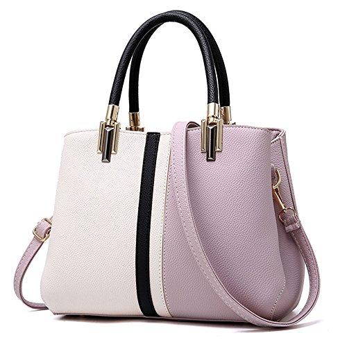 sac à main Mode Violet travail Orange de faux Femmes Sacoche Cuir Tibes sac FqnIgwXw