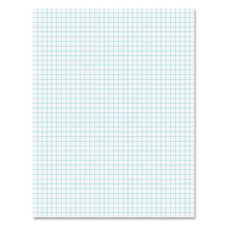 Pack of 2 - Quadrille Pads, 4 Squares/Inch, 8 1/2 X 11, White, 50 Sheets by My Office Products