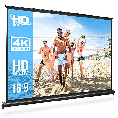 Foldable Projector Screen, AGM 16:9 HD 120inch Portable Front & Rear Projection Movies Screen for Home Theater Outdoor Indoor Classroom Training (120inch Polyester)