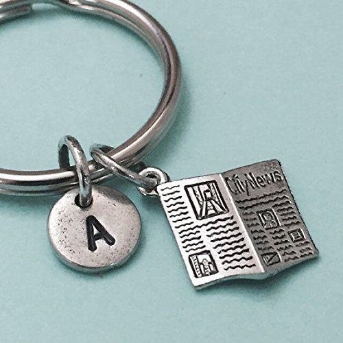 Nashville keychain Nashville charm initial charm personalized keychain monogram initial keychain place keychain customized