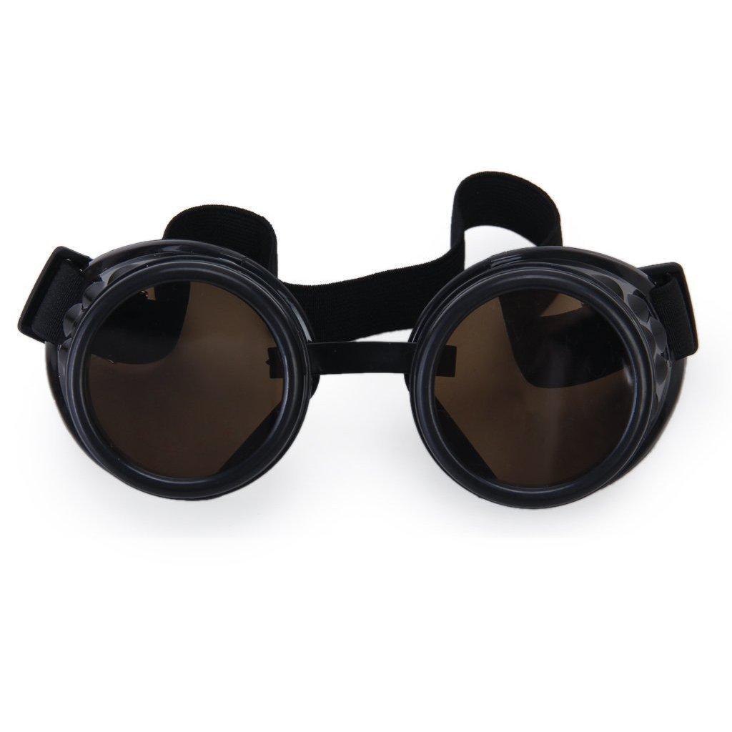SODIAL(R) Weinlese Rustikal Cyber Steampunk Schutzbrille Schweissen Goth cosplay Fotos