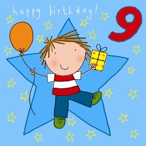 Twizler 9th Tarjeta de cumpleaños para regalo con texto Boy ...
