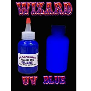 1oz Bottle Wizard UV Tattoo Ink (BLUE)