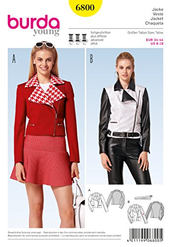 Burda Misses Jacket (BURDA 6800 FITTED JACKET (SIZE 8-18) SEWING PATTERN)